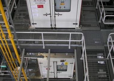 Containeraggregate mit einer Notstromversorgung