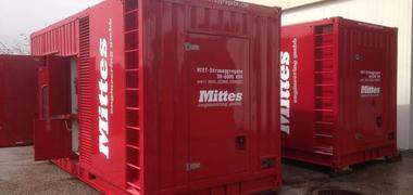 Mobiles 1000 kVA emergency generator
