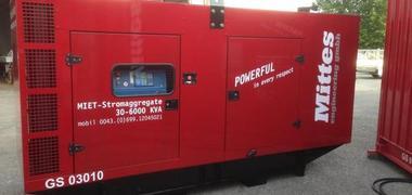 Mobiles 220 kVA emergency generator