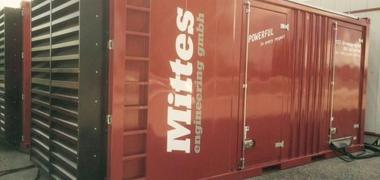 Mobiles 1250 kVA emergency generator