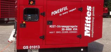 Mobiles 70 kVA emergency generator