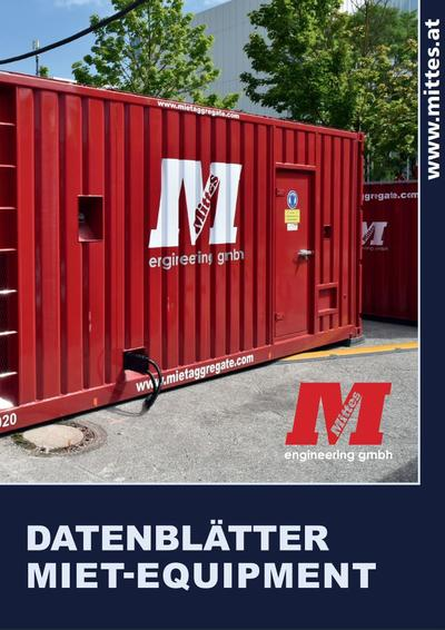 Übersicht Miet-Equipment // PDF